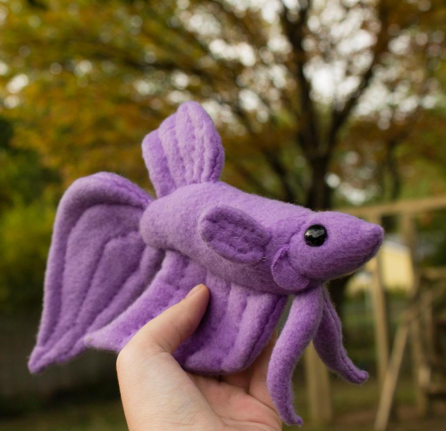 Purple veil tail betta plush by beezee art on deviantart for Purple betta fish for sale