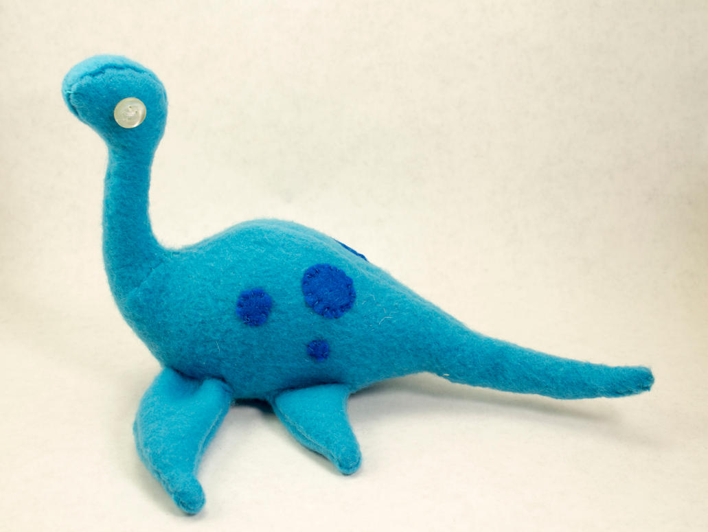 Nessie Style Dino Plush in Blue by BeeZee-Art