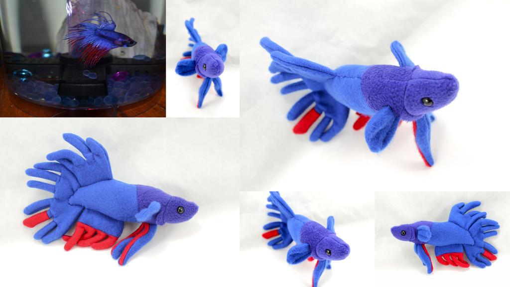 Custom crown tail betta fish plush by beezee art on deviantart for Toys for betta fish