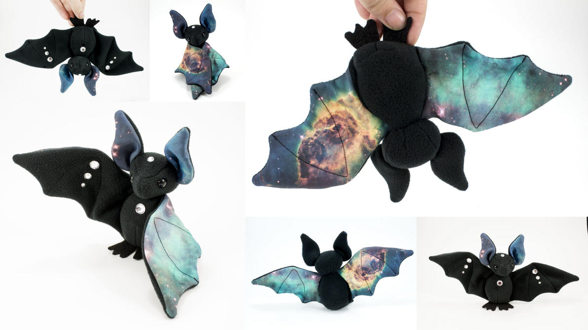 Reverse Gem Galaxy Bat by BeeZee-Art