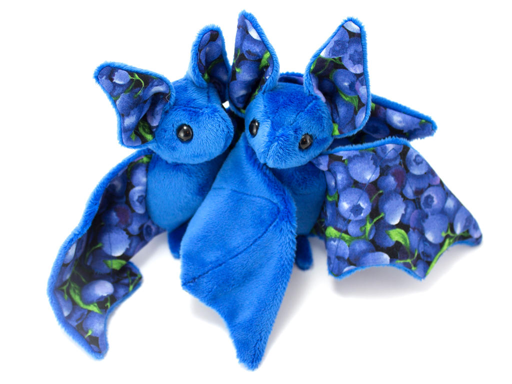 Blueberry Fruit Bats by BeeZee-Art