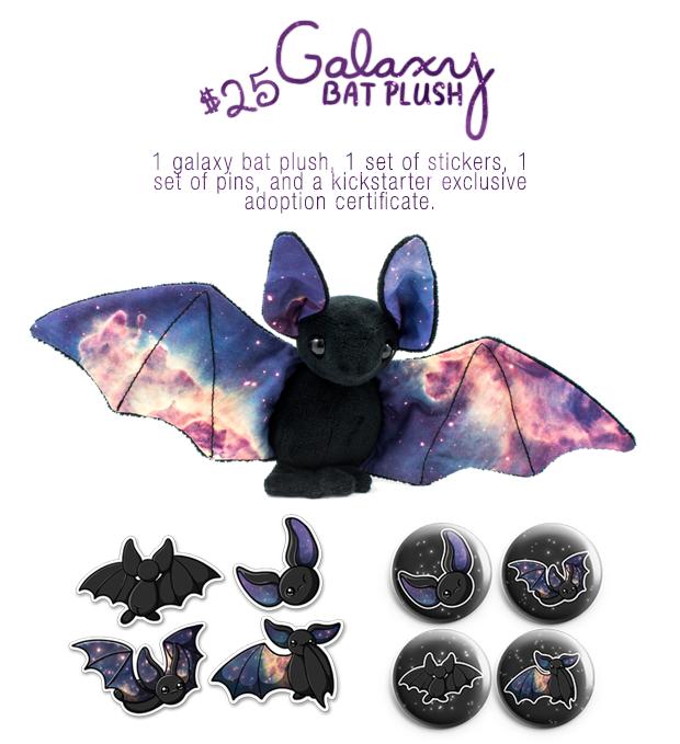 Galaxy Bat Kickstarter Image by BeeZee-Art