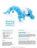 Shoulder Dragon Sewing Pattern by BeeZee-Art