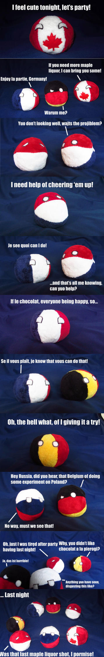 My Countryball plushies were having a party! by Spark-Strudel