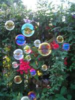bubbles in my garden by 4FaneBlackfireartist