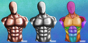 Anatomy Diagram 1 - Male Chest Muscles