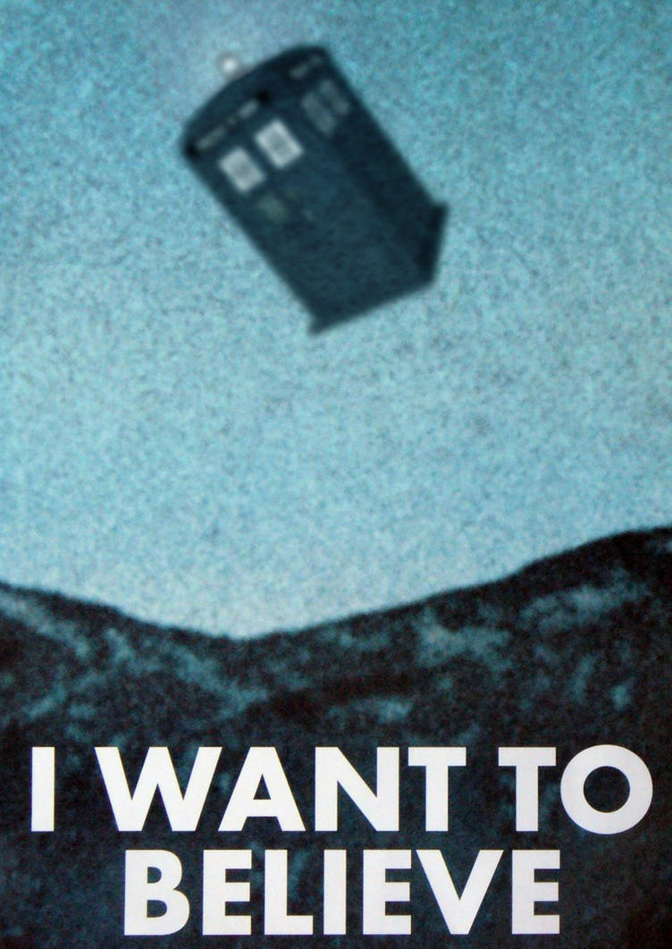 X Files Wallpaper I Want To Believe Doctor Who - I Want To...