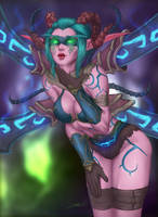 Night Elf Demon Hunter Tailndra [COMMISSION] by ArtJake