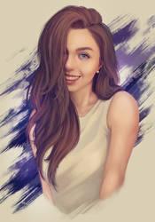 Caroline - Portrait Painting by ArtJake