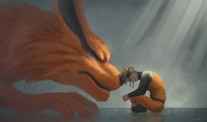 Naruto and Kurama - 'Together, always' by ArtJake