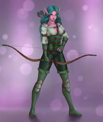 Jewel, Elven Hunter [COMMISSION] by ArtJake