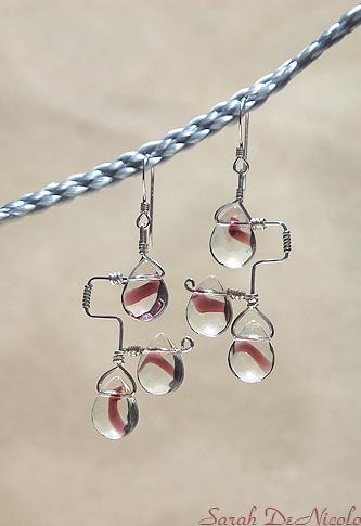 Teardrop Earrings by ChatNoir13