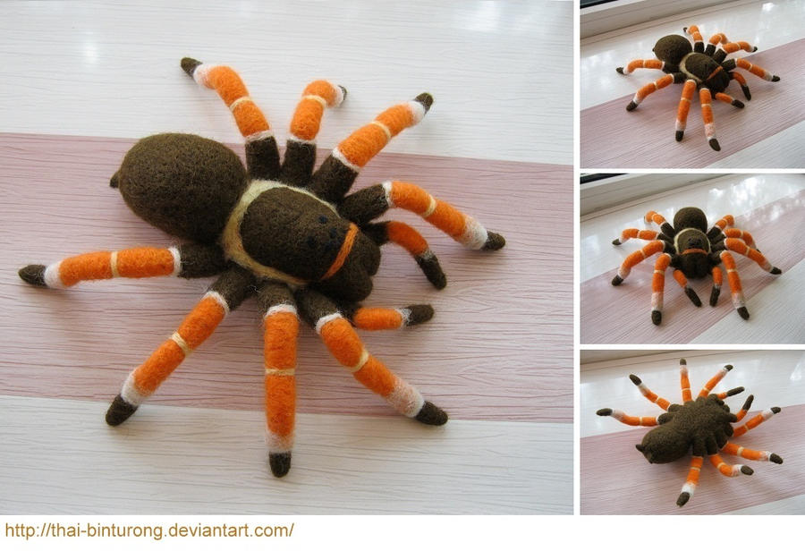 Needle Felted Tarantula by thai-binturong