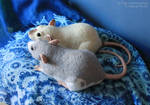 Two felted rats