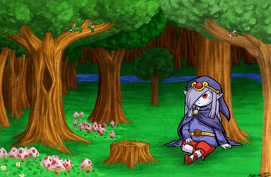 Resting in Minish Woods by StrawberryCrescent