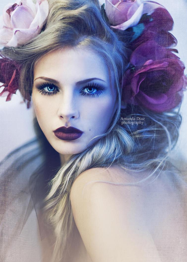 Purple Flowers by Amanda-Diaz