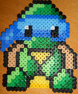 Baby Mutant Ninja Turtle - Perler or Hama by Chrisbeeblack