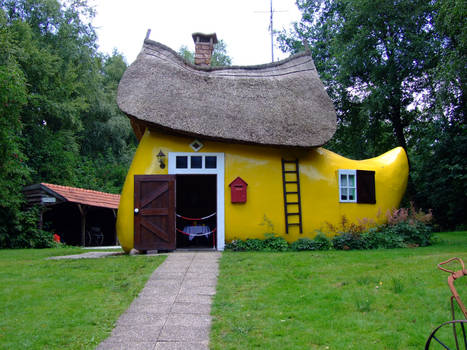 Wooden shoe house