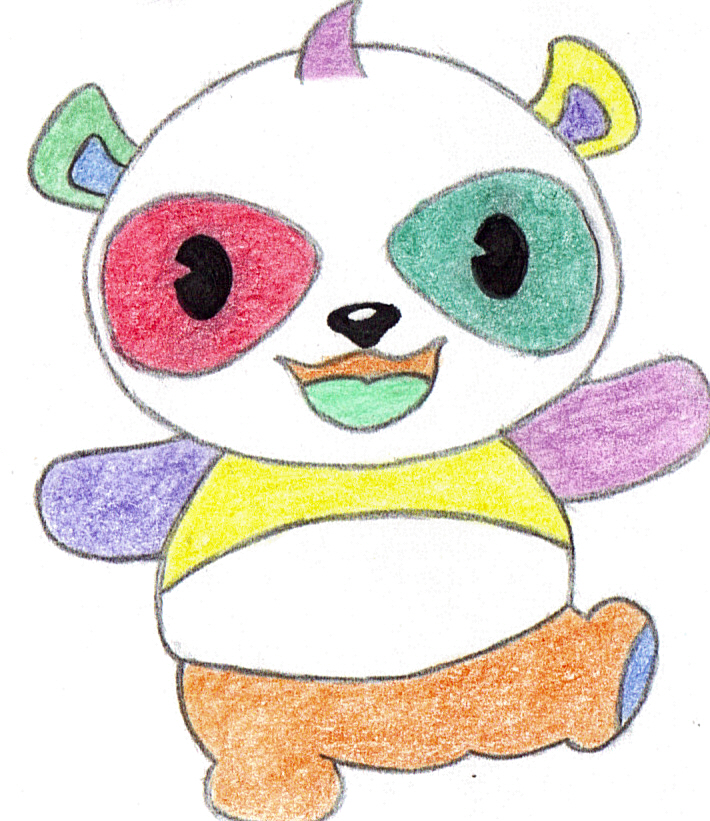 colorful panda by xxrawrmeansilyxx on deviantart