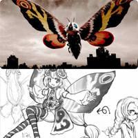 MOTHRA 2 - Anime Moe fanart. by GoMonsterMaster91
