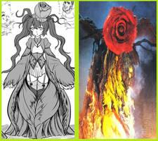 Biollante Rose - Anime Moe Fanart. by GoMonsterMaster91