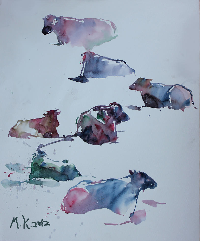 cows 1 by mkiko