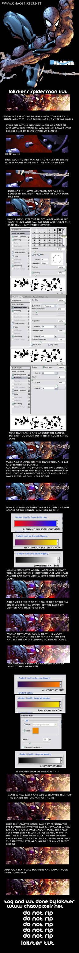 spider man tutorial signature