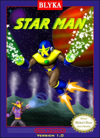 Star Man NES Box Art by fab-wpg