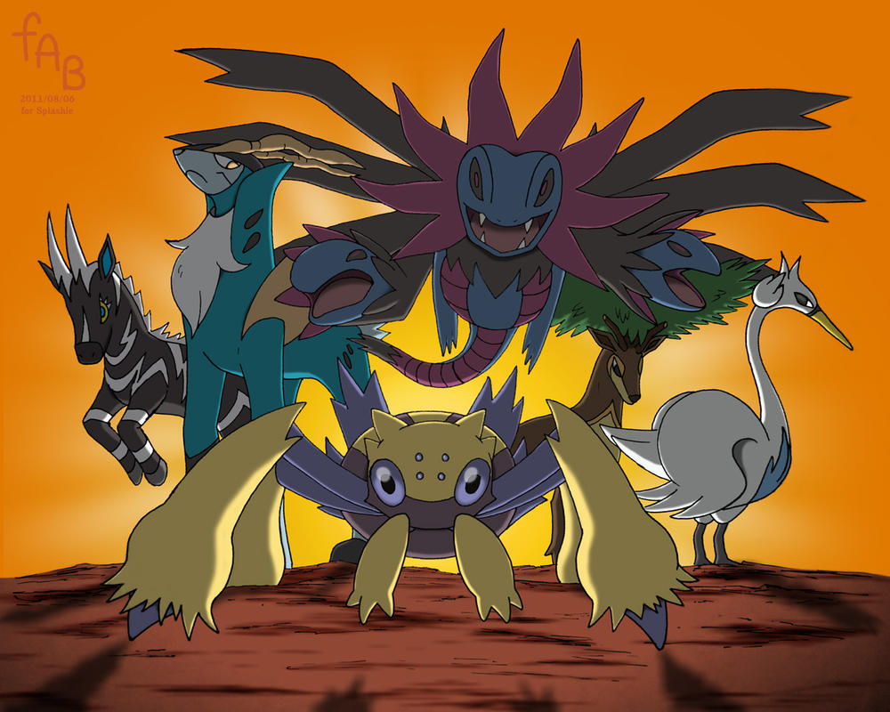Fifth Gen Chosen Pokemon by fab-wpg