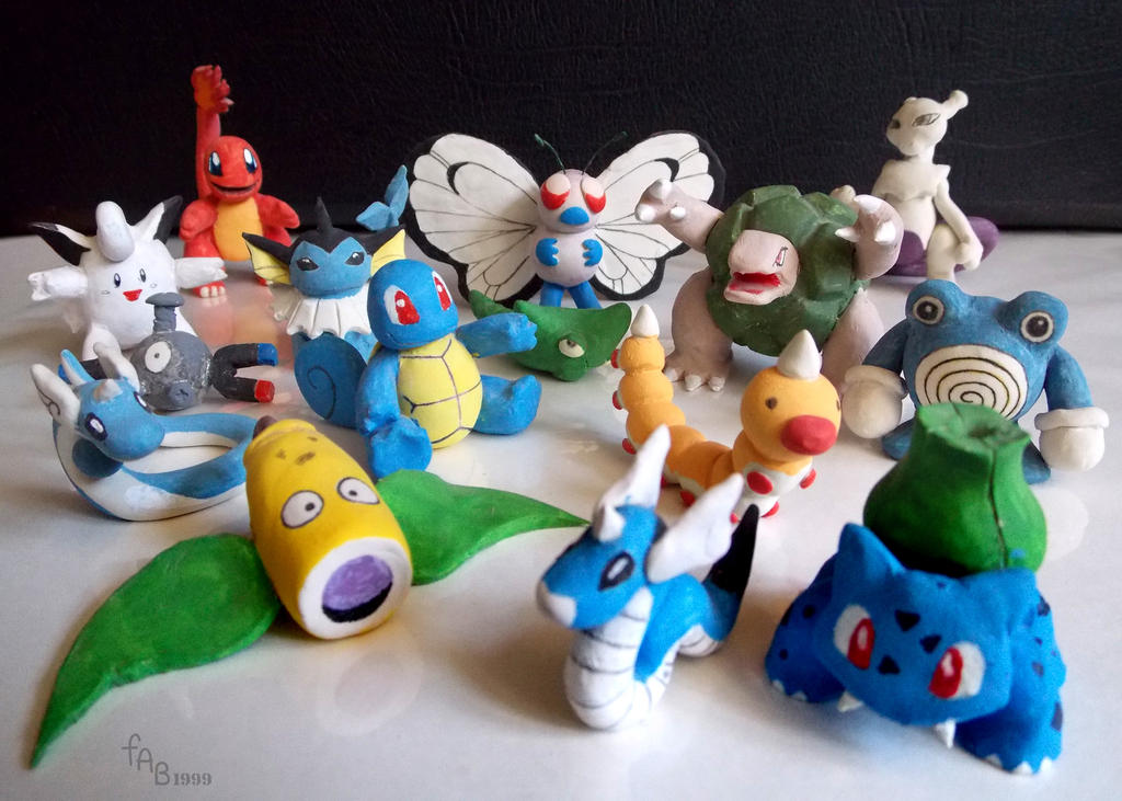 Pokemon Clay Figures (1999) by fab-wpg