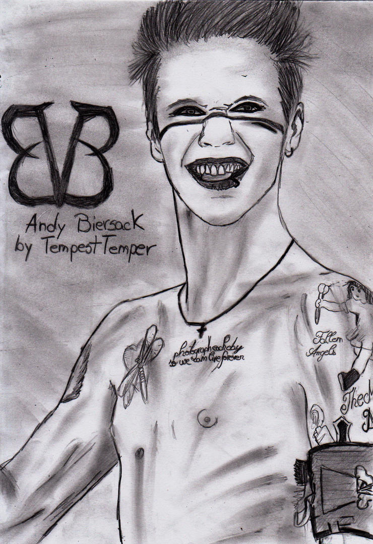 Andy Biersack Chest Tattoo Andy Biersack Chest Tattoos