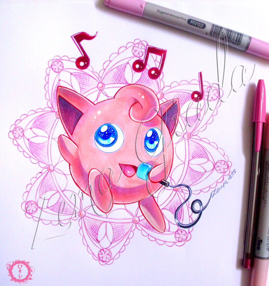 Jigglypuff fanart and Happy New year!! by hisui1986