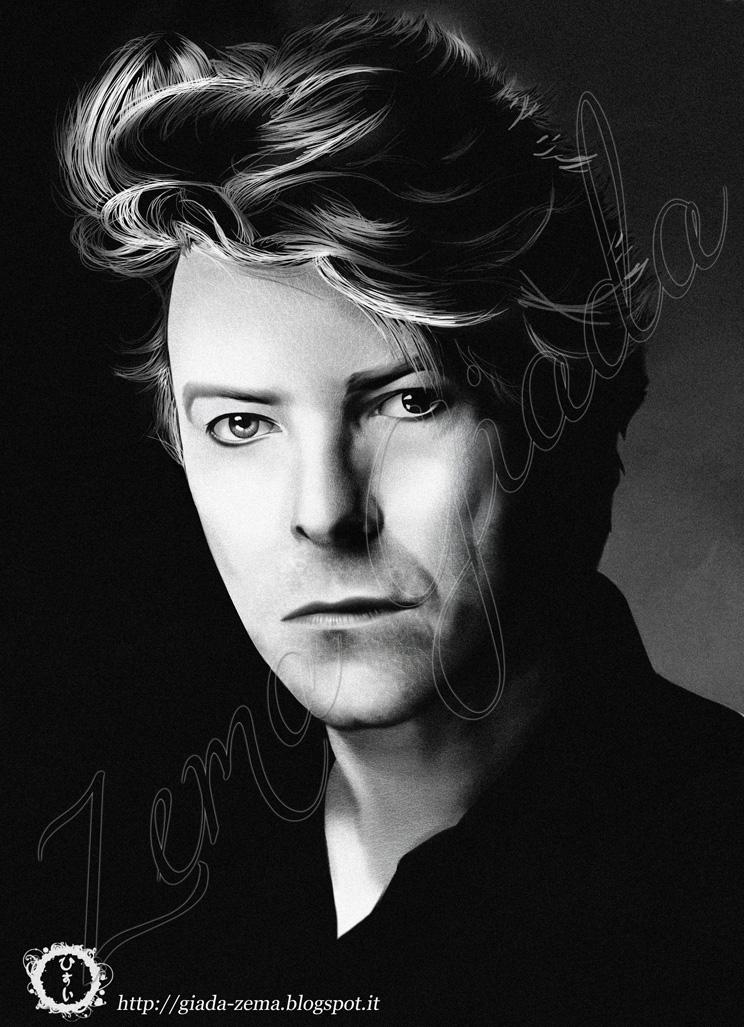 David Bowie Portrait Tribute by hisui1986