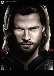 Digital Painting Thor by hisui1986