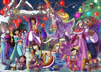 Christmas DISNEY by hisui1986