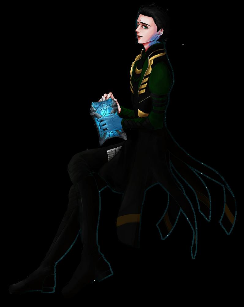 Loki with Casket by HiinKki