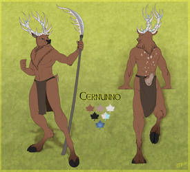 Reference Sheet Commission - Cernunno by Mirri
