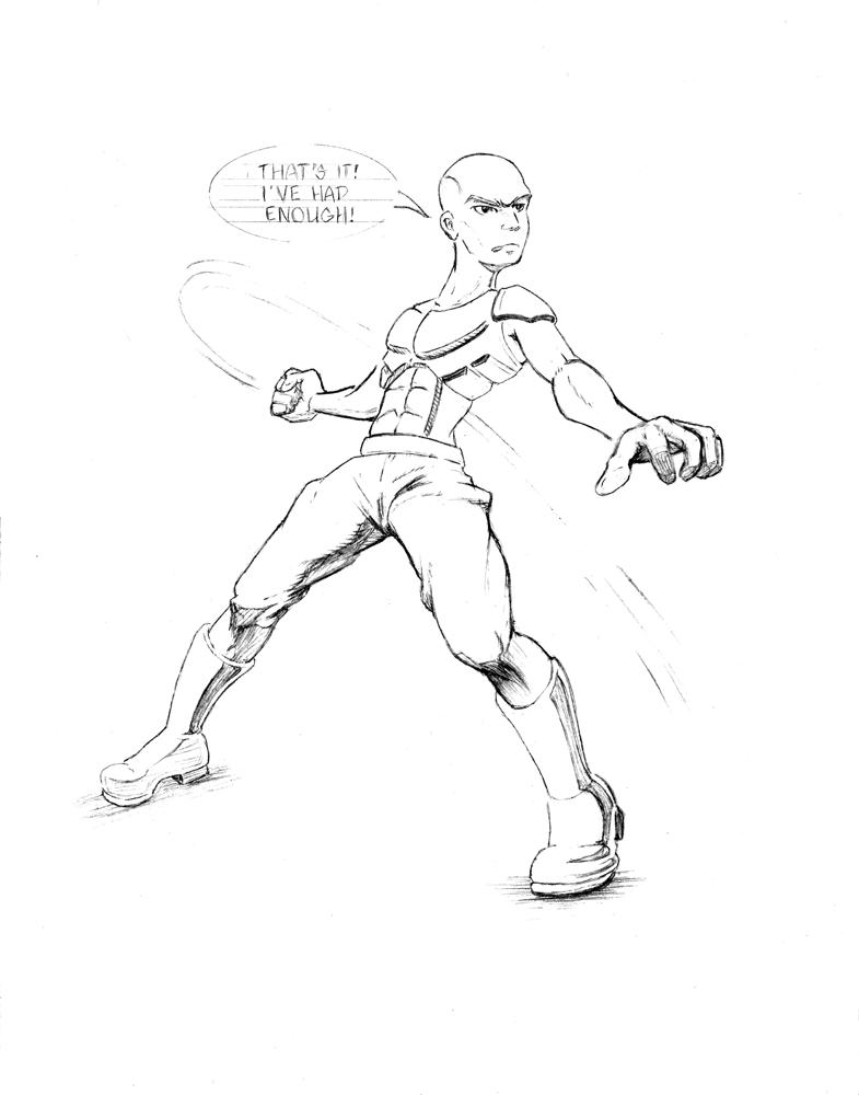 WIP 'Had Enough' Pencil Sketch by mr-machina