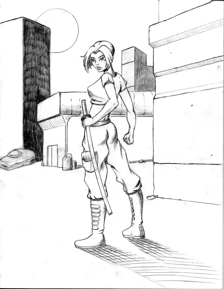 'Crax Chronicles' Rough Pencil Sketch WIP by mr-machina