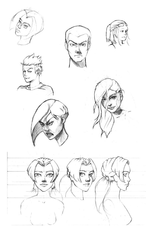 Sketch Dump of Random Head Practice by mr-machina