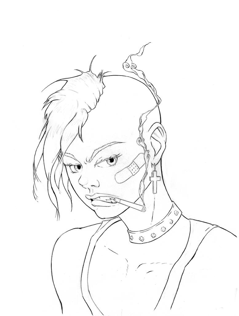Tank Girl Ruff Inks by mr-machina
