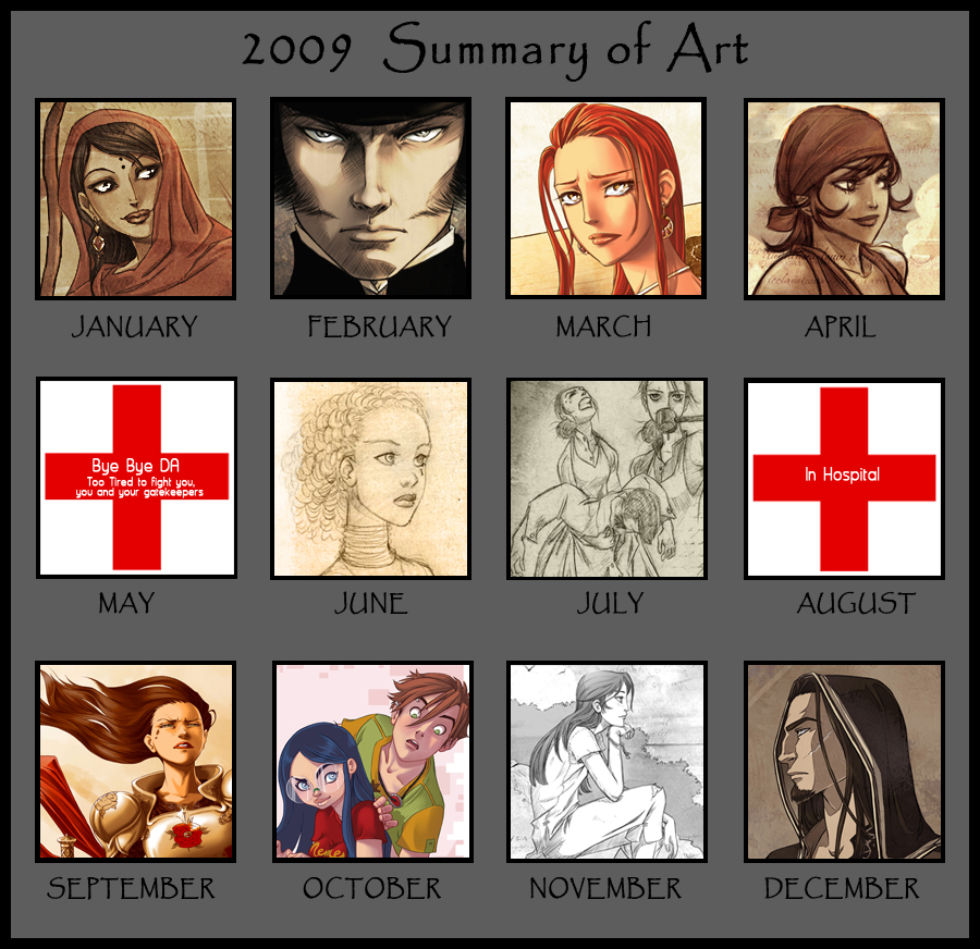 2009 - Summary of Art by Hito76