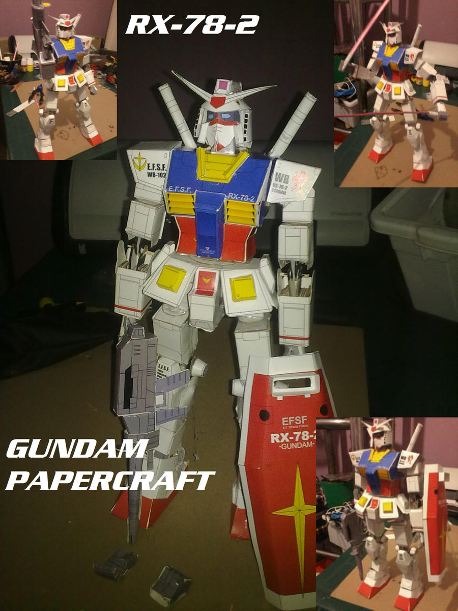 RX-78-2 Gundam Papercraft by daigospencer