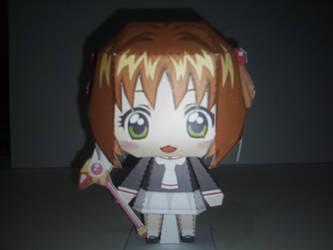(Niseke) Chibi Sakura Kinomoto papercraft