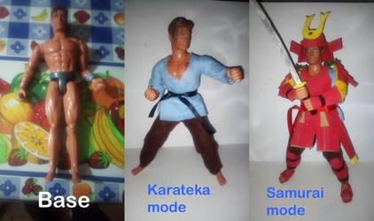 Max Steel Custom samurai