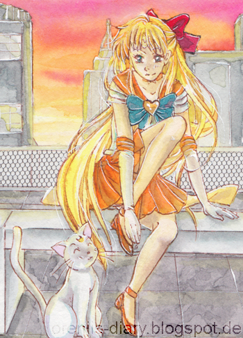 Sonnenuntergang  # 136 - Sailor Moon ACEO by Enatis