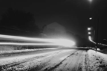 The Motorway By Night. by MadClocker