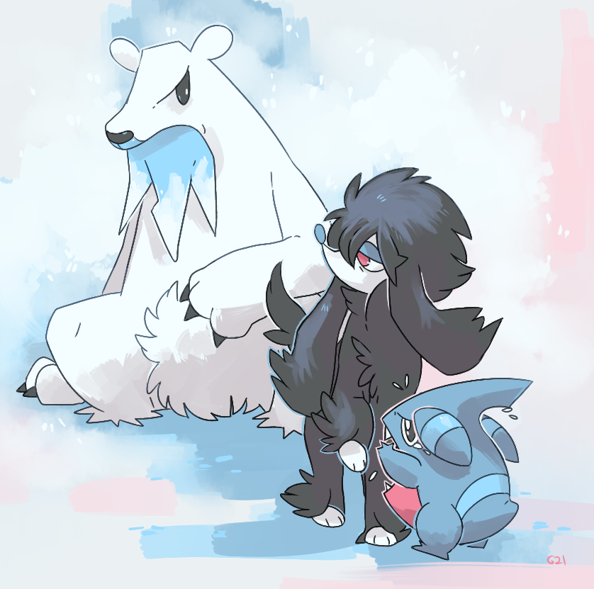 Shiny Furfrou Beartic and furfrou by