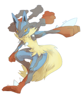 [Day 30] Mega Lucario by PinkGermy