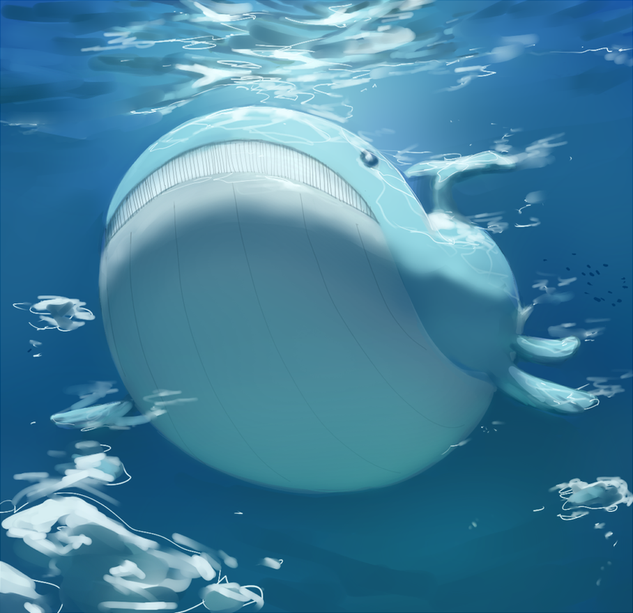 Wailord (collab) by PinkGermy on DeviantArt Wailord Wallpaper